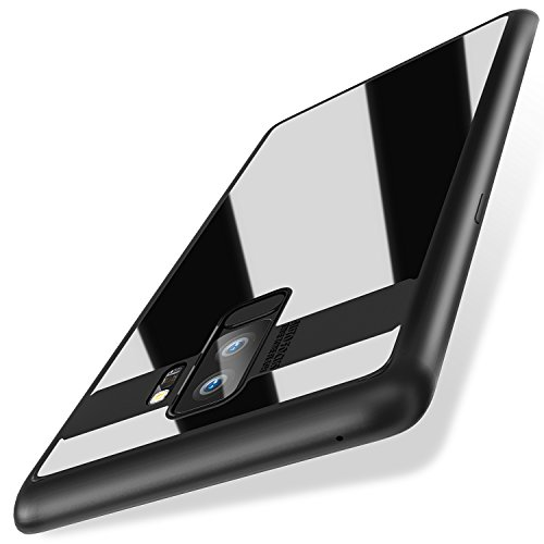 Galaxy S9 Plus Case, Pasonomi Tough PC and Flexible TPU Ultra Slim Clear Case Premium Hybrid Protective Cover for Samsung Galaxy S9 Plus (Black)