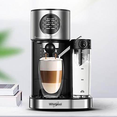 YAN QING SHOP Espresso ekspres do espresso, mały, w pełni automatyczny, jednoprzyciskowy, do spieniania mleka Office Commercial obsługa za pomocą jednego przycisku, 15 bar, wysokociśnieniowa ekstrakcja tłuszczu do kawy Rich