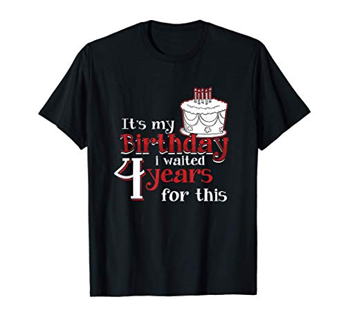 二月生まれ しゅっせいげつ 年に一度の アニバーサリー 閏年 願い事 しせい び Tシャツ
