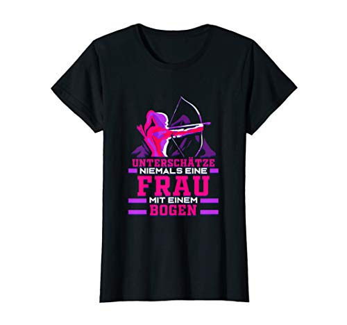 Damen Bogenschießen Geschenk Bogenschützin Frau Pfeil und Bogen T-Shirt