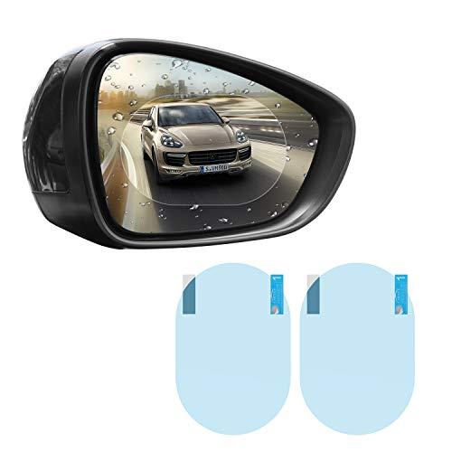 MoKo Pellicola Specchietto Pellicola Retrovisore 2 Pezzi con Dimensioni da 150 x 100mm,Anti-Goccia, Nebbia, Finestrino Auto,Protezione Specchio Auto,P