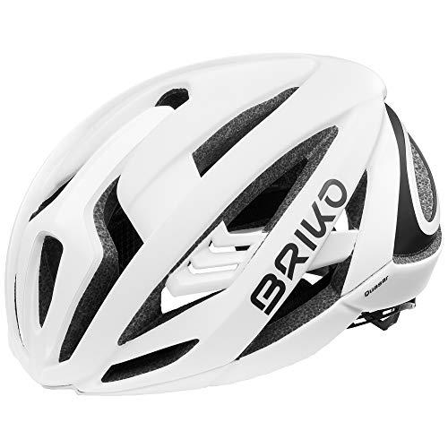 Briko Quasar Helm, Erwachsene, Unisex, Shiny White, Medium