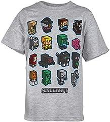 Minecraft Camiseta Gris para Niños