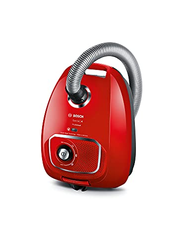 Bosch BGLS4PET2, Serie   4, Aspirapolvere con Sacco, ProAnimal, Rosso, 600 W, 4 Litri, 75 decibeles