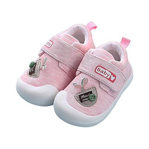 SIFANGPING Chaussures bébé Printemps Automne et Hiver Chaussures bébé pour Hommes et Femmes 0-2 Ans Chaussures d'intérieur pour Enfants Semelle Souple antidérapante (Rosa 20)