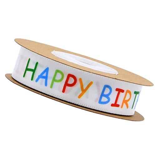 Artibetter Gelukkige Verjaardag Polyester Lint Diy Ambachtelijke Linten Cadeaupapier Lint Voor Verjaardagsfeestje Decoraties 1 Rol Van 10 Meter
