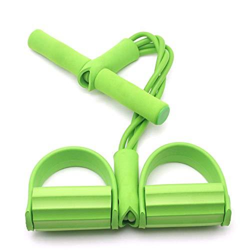 MikeyBee Juego de 11 bandas de resistencia para fitness, equipo de gimnasio, bandas de ejercicios, cuerda elástica para entrenamiento (amarillo)