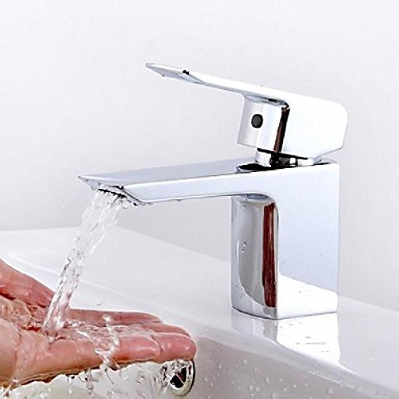 Robinet de lavabo (court) à poignée unique, design moderne fini en chrome