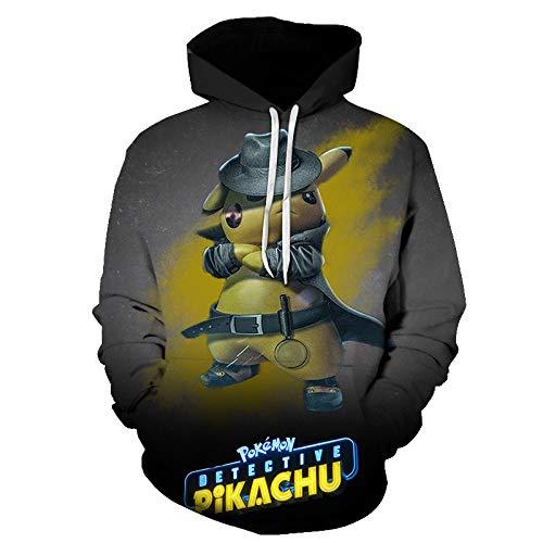 Hoodies,3D digitale grappige Pikachu versie van de dode pak Unisex paar hooded trui