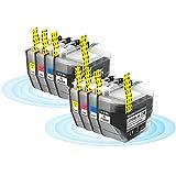 RICR Suministros de impresión Inteligentes Reemplazo Compatible con Cartucho de Tinta LC3219XL para Brother MFC-J5330DW MFC-J5335DW Printer 2 Set