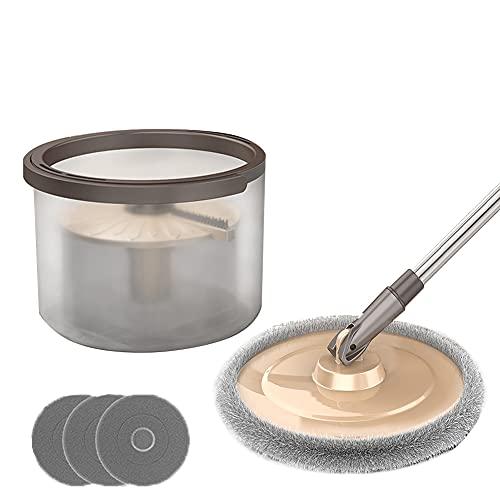 N / B Sin Lavado a Mano 360 ° Spin girating MOP Bucket Set, Separación de Aguas residuales Mops Buckets Sets, con 3 Cabezas secas de Limpieza y detergente