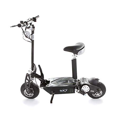 Trottinette lectrique SXT Scooter 1000 W Turbo Noire Batterie Plomb 12 Ah Vitesse 17km/h