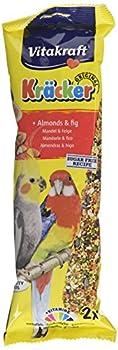 Vitakraft Kracker Calopsittes Bird Nourriture Almonds-fig, Lot de 5