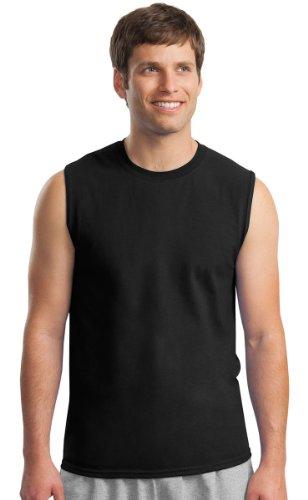 Gildan Mens Ultra Cotton Sleeveless T-Shirt, XL, Black