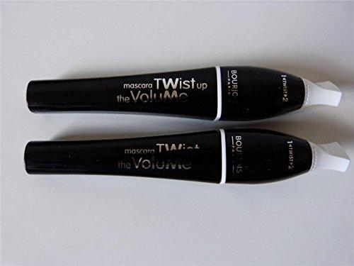 2 x Bourjois Paris Twist Up The Volume Mascara 8ml - 21 Black