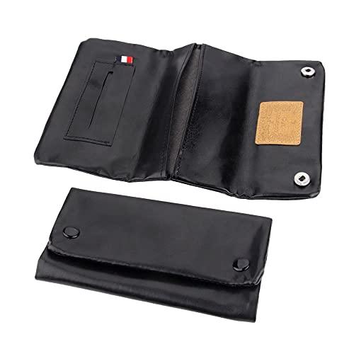 1 bolsa de cuero para tabaco, cigarrillo portátil, estuche para tabaco h, billetera, punta, soporte par, accesorios para fumar, color aleatorio