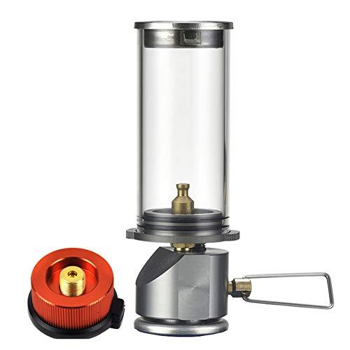 GYFHMY Outdoor Gas Butaan Lamp Glas Mantle, Mini Flame Lantaarn, Draagbare Dromerige Kaars Lichten, Verlichting voor Backpacking Camping Picknick Zelfrijdende Wandelen