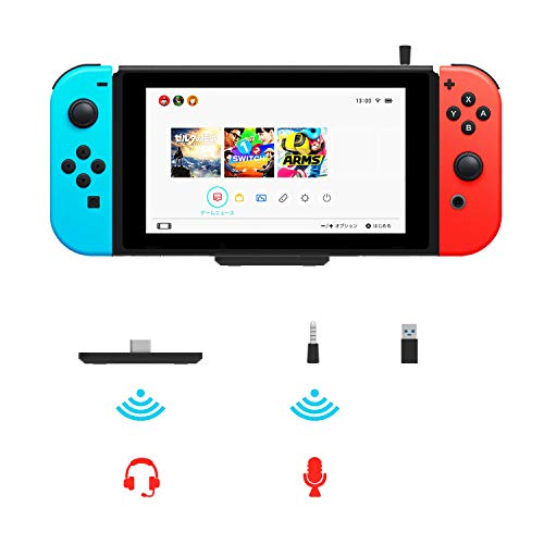 Mini Bluetooth Adapter for Nintendo Switch/Lite, Low Latency BT 5.0 Wireless Audio Transmitter, Voice Chat Support, Easy Pairing, Compatible with PS4 PC Laptop Bluetooth Speaker Headset AirPods