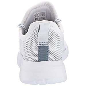 adidas Women's Lite Racer Reborn Running Shoe, White/raw Grey, 7 M US