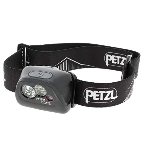 PETZL Unisex– Erwachsene Stirnlampe Actik Core Schwarz Lampe, one Size