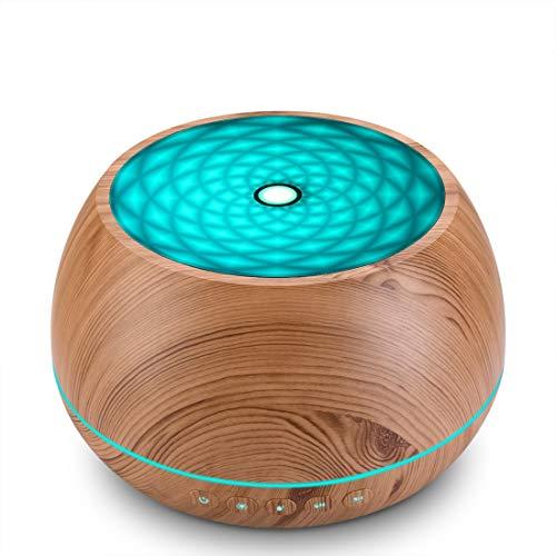 Seamei Aroma Diffuser,800ml Luftbefeuchter Ultraschall Vernebler Raumbefeuchter Elektrisch Duftlampe Öle Diffusor mit 7 Farben LED,mehr als 45ml/h Feuchtigkeitsabgabe für Raum,Büro,Yoga,Spa