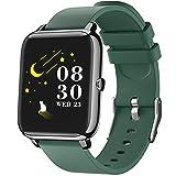 IDEALROYAL Smartwatch, P22 Reloj Inteligente Impermeable con Monitor de Frecuencia Cardíaca, Monitor de Sueño, Podómetro de Seguimiento de Actividad Física con Pantalla Táctil para Android iOS (Verde)
