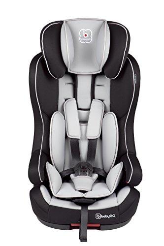 BabyGO Safe+ Isofix Kinderautositz Side Protection Gruppe I/II/III (9-36kg) grau