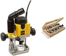 DEWALT DW621 2-Horsepower Plunge Router with Irwin Tools 1901048 Marples Deluxe Router Bit Set (15 Piece)