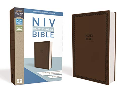 Compare Textbook Prices for NIV, Value Thinline Bible, Leathersoft, Brown, Comfort Print Special ed. Edition ISBN 9780310448464 by Zondervan