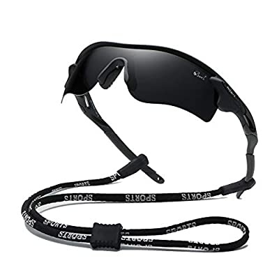 Bevi Polarized Sports Sunglasses for Men Women Baseball Running Cycling Golf Tr90 Durable and Ultralight Frame 2735C6
