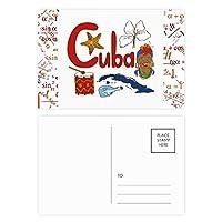 キューバの国家の象徴のランドマークのパターン 公式ポストカードセットサンクスカード郵送側20個