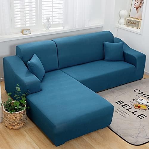 Funda de cojín de sofá de combinación elástica de Color sólido Funda de sofá de Cuero Antideslizante de Tela Todo Incluido