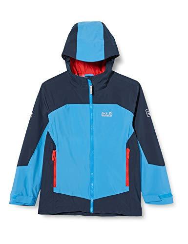 Jack Wolfskin Jungen Ropi Jacket Boys Atmungsaktive Kinder Regenjacke, sky blue, 164 (XL)