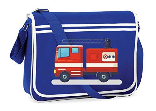 Drucklebnis24 - Bolso bandolera para el hombro, diseño de camión de bomberos y alarmas de dibujos animados