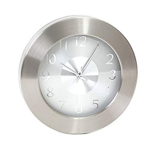 Platinet Noon Quartz Wall Clock Kreis Aluminium, Weiß