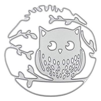 Tree Owl Metal Dies Cuts for Card Making Scrapbooking Dies Cutting Dies Craft Border Dies
