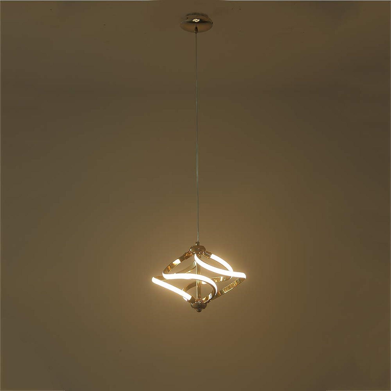 Pendelleuchte des Wohnzimmer-LED, Leuchter-Decken-Büro-hngende Lichter Aluminiuminnenleuchte, Schnur justierbar,CoolWeiß,22W
