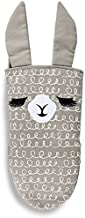 Llama Face Grey Swirls Cotton Silicone Insert Oven Mitt