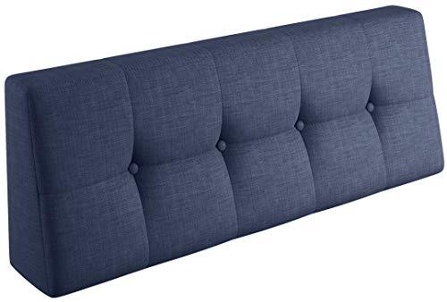 sunnypillow Palettenkissen Palettenauflage Palettenpolster Palettensofa Sitzkissen Rückenlehne gesteppt Rückenkissen 120x40x20/10cm Cobalt