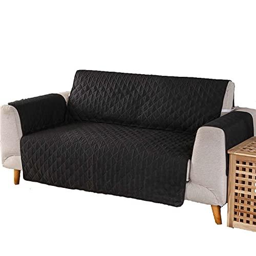 BSZD wasserdichte Slipcovers, 1/2/3 Sofasitzabdeckung, Abnehmbarer Sessel Divan Protector Fall (Color : Black, Specification : 130x196cm(2 seat))