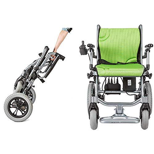 "YOLANDEK The lightest & Most Compact Powered Wheelchair in The World - Ultra Portable Folding Power Wheelchair - Weights Only 35 lbs(Including 10A Lithium Battery) - 18"" Seat Width"