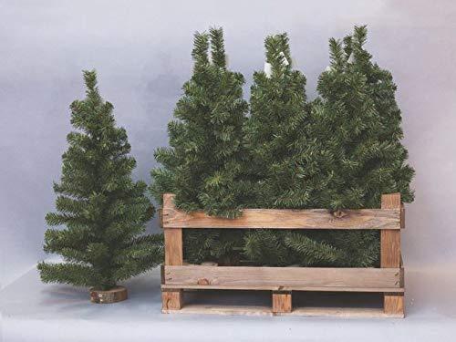 Euronatale Alberello di Natale con Base in Legno, Altezza 80cm