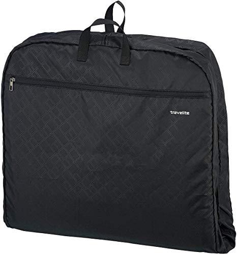 travelite große Kleiderhülle für Anzüge und Hemden, Gepäck Serie MOBILE: Knitterfrei reisen mit der Kleiderhülle Anzughülle, 001718-01, 127 cm, 39 Liter, schwarz