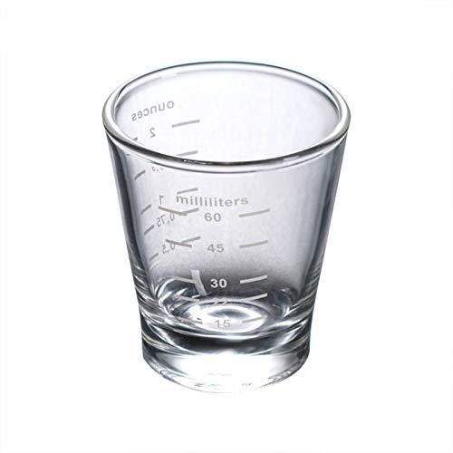 Taza de café de cristal, con doble boca y taza redonda de estilo italiano, única y simple, de cristal, resistente al calor, para ver la vida y disfrutar de la vida