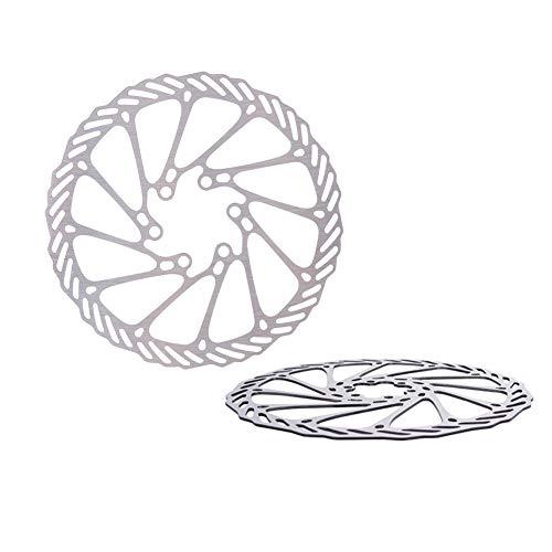 Los Frenos De Bicicleta Freno De Disco Hidráulico De La Bici del Freno De Disco De 180 Mm Rotores Centro Bloqueo Rotores De Acero Inoxidable con 6 Tornillos para El Camino De Bicicletas De Montaña