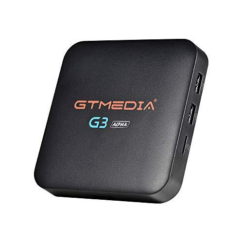 GT MEDIA G3 Alpha 4K Android TV Box 7.1.2, Dual-WiFi 2.4G 5Ghz, Amlogic S905X Quad-Core 2GB RAM +16GB ROM 3D   H.265 HEVC   MPEG-4   BT4.0 Support Netflix YouTube GTplayer Smart TV Box