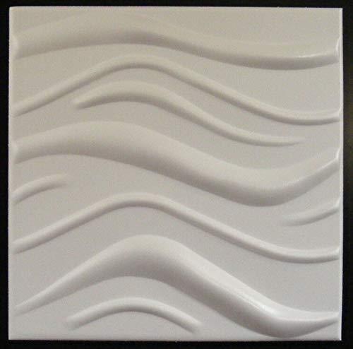 Styling Panel Wave - 2qm Wandpaneele mit Relief aus robustem recyclingfähigem Kunststoff - Deckenpaneele Fliesen Wandbezug Wandverkleidung Wanddeko Wandplatten - Alternative zur Tapete