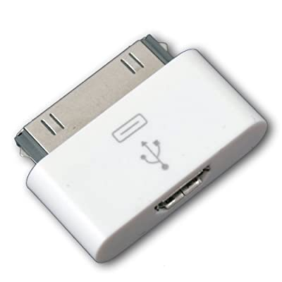 White 30 pin Dock Connector to Micro USB Adapter For ipod touch iPhone 4 4S 4G 3G 3GS from IDS