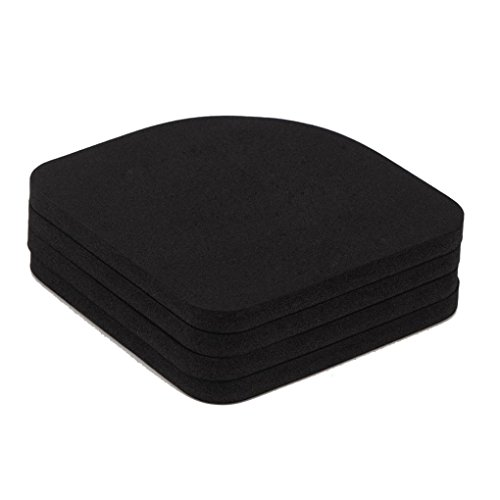 Floridivy 8 stuks Black EVA Wasmachine Shock wshing machine schok mat, EVA Mat Pads Koelkast Anti-vibratie Noise Pad antislipmatten
