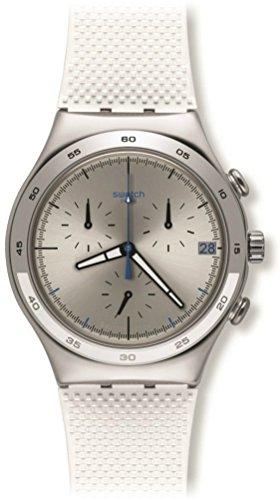 Swatch Damen Chronograph Quarz Uhr mit Kautschuk Armband YCS584
